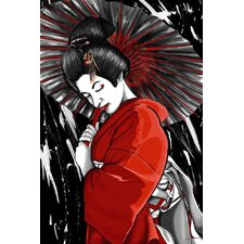 """Geisha"" Graphic Art on Canvas"