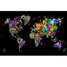 "Modern ""World of Colors"" Painting Print on Canvas"