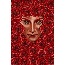 """Bed of Roses"" Graphic Art on Canvas"