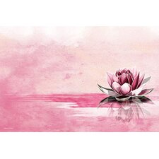Lotus Graphic Art on Canvas