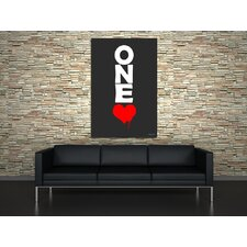 One Love Graphic Art on Canvas