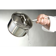 Stainless 2-Quart Sauce Pan with Pouring Spout and Lid