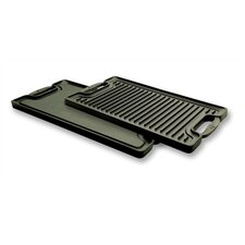 "Cast Iron 20"" x 10"" Reversible Grill Pan and Griddle"