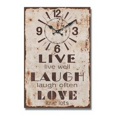 Live Well Message Wall Clock