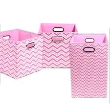 Rose Chevron 3 Piece Organization Bundle Set