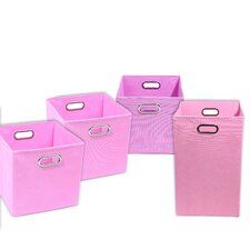 Rose Solid Pink 4 Piece Organization Bundle Set