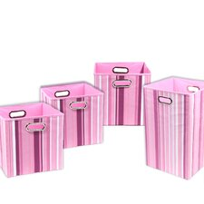 Rose Stripes 4 Piece Organization Bundle Set