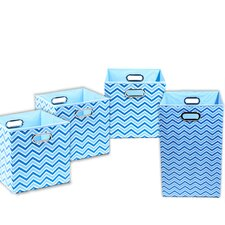 Sky Chevron 4 Piece Organization Bundle Set