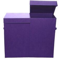 Color Pop Solid Folding Double Laundry Basket