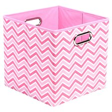 Rose Zig Zag Folding Storage Bin