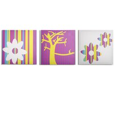 3 Piece Color Pop Nature Canvas Art