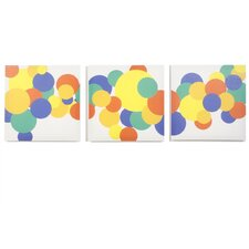 3 Piece Rusty Boyish Bubbles Canvas Art Set