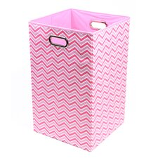 Rose Zig Zag Folding Laundry Basket