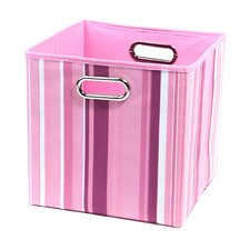 Rose Stripes Folding Storage Bin