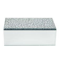 Leopard Top Mirrored Jewelry Box