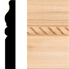 "0.63"" x 4"" Hardwood Rope Base Moulding"