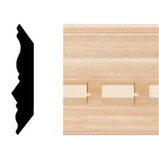 3/4 in. x 3-3/4 in. x 8 ft. Hardwood Dentil Crown Moulding