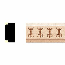 <strong>Manor House</strong> 3/8 in. x 3/4 in. x 8 ft. Hardwood Embossed Lizard Shelf Moulding
