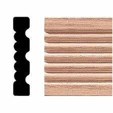 <strong>Manor House</strong> 3/4 in. x 3-1/4 in. x 7 ft. Oak Reversible Flute Casing Moulding
