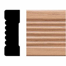 <strong>Manor House</strong> 3/4 in. x 2-1/4 in. x 8 ft. Oak Fluted Casing Moulding