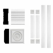 3/4 in. x 2-1/4 in. x 6 ft. MDF Fluted Window Casing Set Moulding