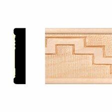 3/8 in. x 1-3/4 in. x 8 ft. Hardwood Embossed Navajo Stairs Panel Moulding