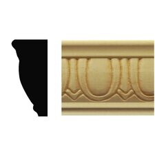 7/8 in. x 1-7/8 in. x 8 ft. Basswood Egg & Dart Chair Rail Moulding