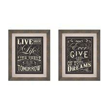 Modern Inspiration Button Framed Art (Set of 2)