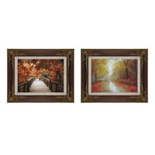 <strong>Elico LTD</strong> Seasons Changing Framed Art (Set of 2)