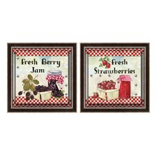 Fresh Berry Jam Framed Art (Set of 2)