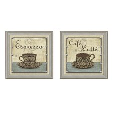 Cafe Latte Framed Art (Set of 2)