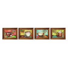 Vivid Coffee Framed Art (Set of 4)