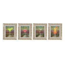Happy Hour Framed Art (Set of 4)