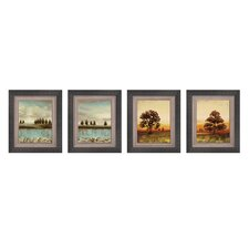 Open Horizon Framed Art (Set of 4)