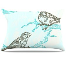 <strong>KESS InHouse</strong> Birds in Trees Fleece Pillow Case