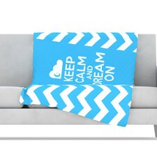 Keep Calm Fleece Throw Blanket