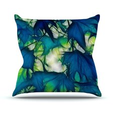 Leaves by Alison Coxon Throw Pillow