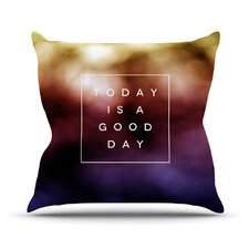 Good Day by Galaxy Eyes Rainbow Throw Pillow