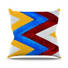 Zig Zag by Brittany Guarino Throw Pillow