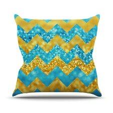 Blueberry Twist by Beth Engel Chevron Throw Pillow