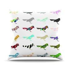 Birds by Belinda Gillies Throw Pillow