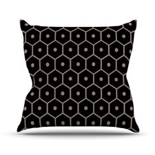 Tiled Mono by Budi Kwan Throw Pillow