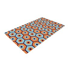 Busy Orange/Blue Area Rug