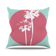 Cali Sunset by Bree Madden Throw Pillow