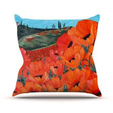 Poppies Outdoor Throw Pillow
