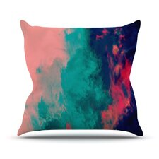 Painted Clouds Double by Caleb Troy Throw Pillow