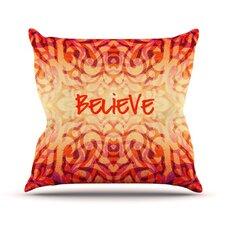 Tattooed Believer Throw Pillow