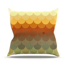 Half Circle Waves Color by Danny Ivan Throw Pillow