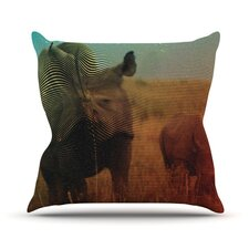 Abstract Rhino by Danny Ivan Throw Pillow