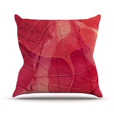 Delicate Leaves Throw Pillow